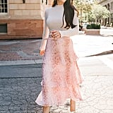 Rachel Parcell Tiered Pleated Skirt