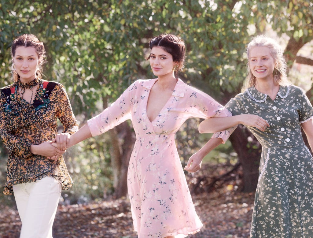 Kylie Jenner, Bella Hadid, and Lottie Moss in Vogue