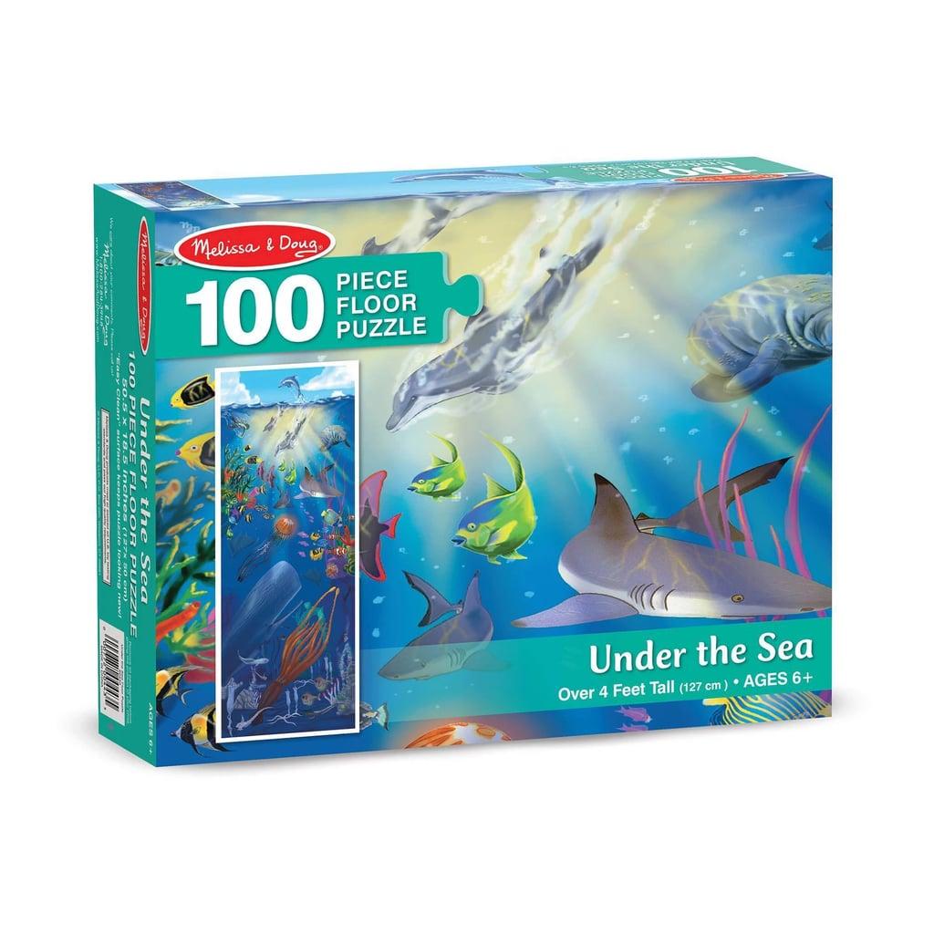Melissa and Doug Under the Sea Jumbo Floor Puzzle 100pc