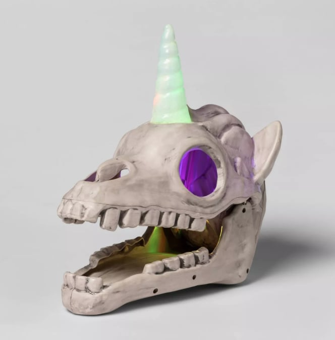 Target Halloween Unicorn Skulls Decoration | POPSUGAR Family