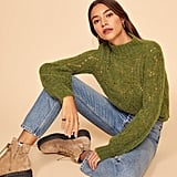 Reformation Pointelle Turtleneck Sweater