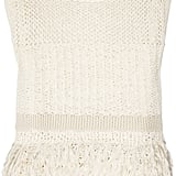 """My Spring wardrobe wouldn't be complete without this gorgeous DKNY open weave top. The varying crochet detail is super modern, and I love the fun fringed tassels at the bottom. I'd wear this with faded Levi's cutoffs at Coachella and with cropped printed trousers and slimming ankle-strap heels for a chic work ensemble."" — Chi Diem Chau, associate editor  DKNY Open Weave Top ($345)"