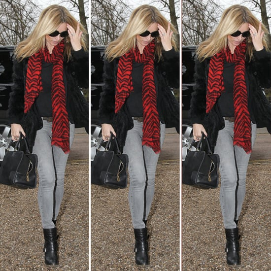 Kate Moss Red Zebra Scarf