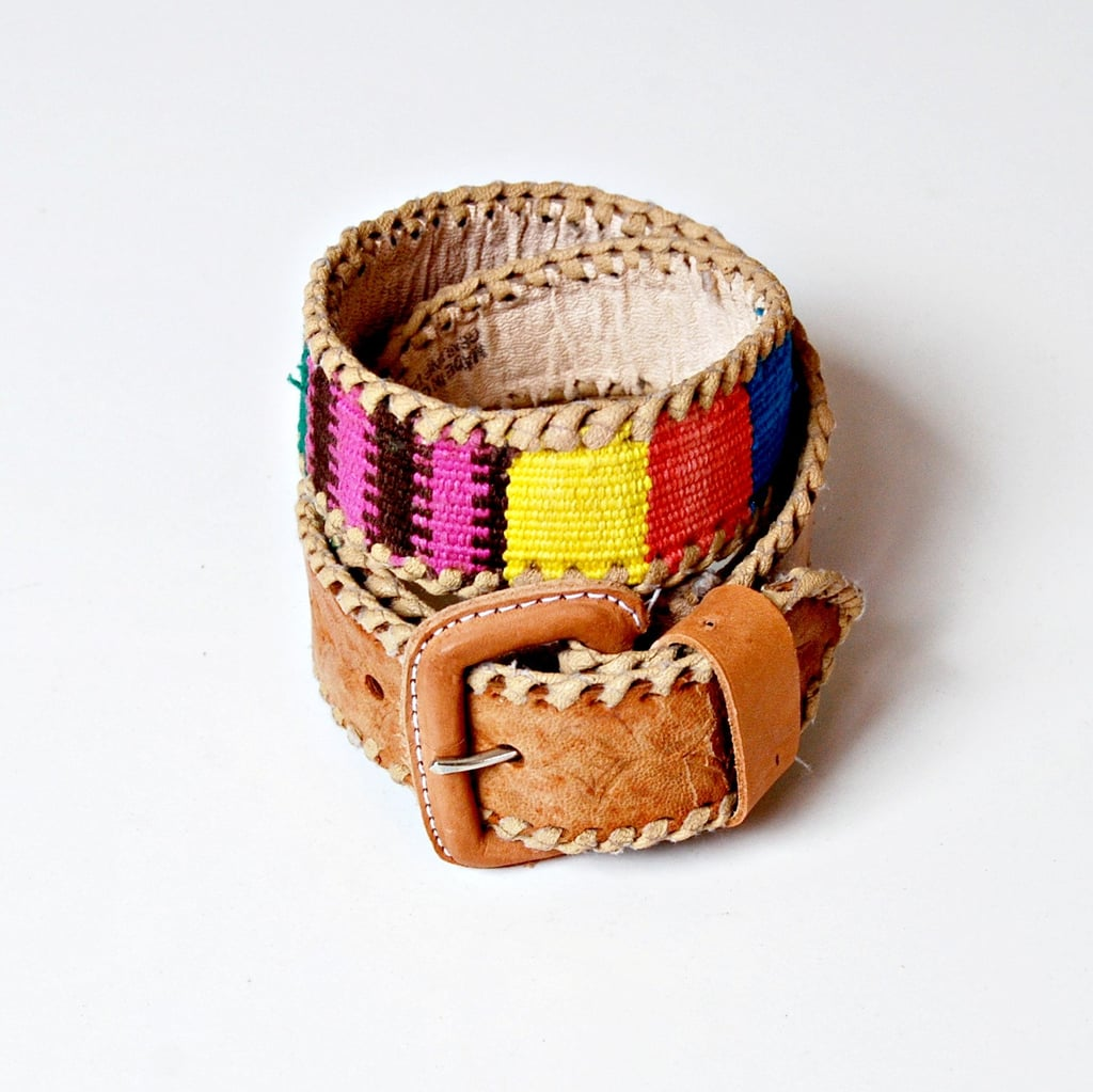 We'd cinch a gauzy white dress with this colorful belt.  Vintage Marmalade Colorful Woven Belt ($18)