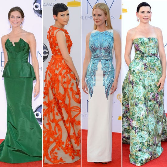 Pictures of the Best Dressed Celebrities on the Red Carpet at the 2012 Emmys Awards: Ginnifer Goodwin, Guiliana Margulies,
