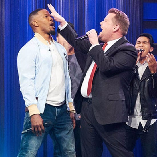 James Corden, Jamie Foxx, and Ansel Elgort Riff-Off Video