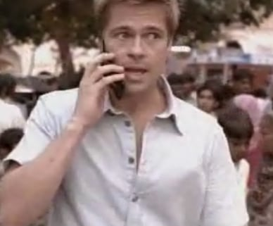 Brad Pitt's Sexy Softbank Cell Phone Commercials
