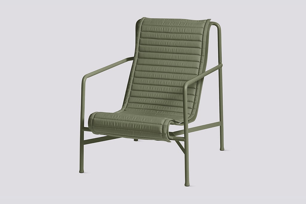 Palissade Lounge Chair with High Quilted Cushion