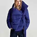 Zara Asymmetric Quilted Jacket
