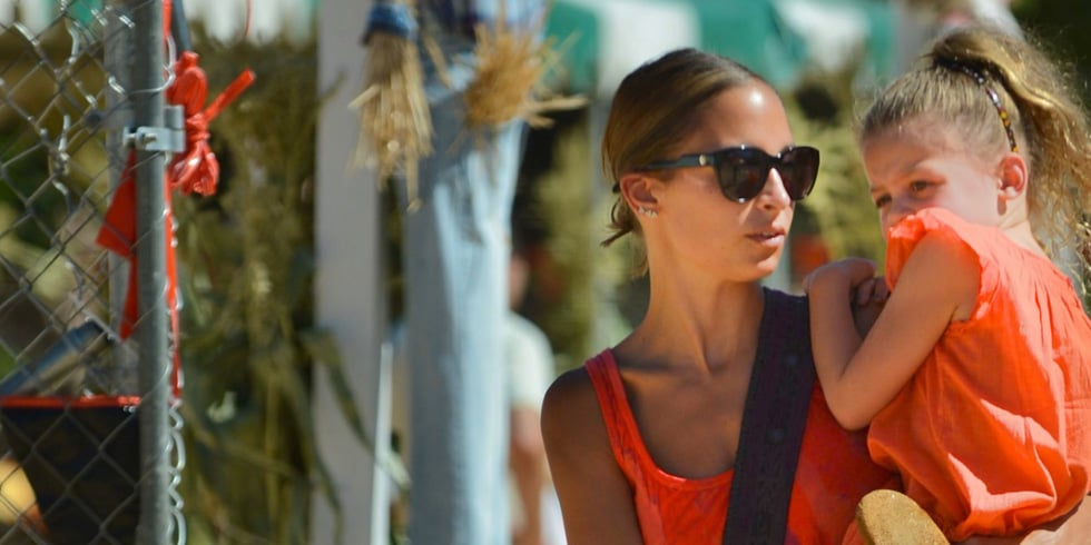 Nicole Richie and Kids at a Pumpkin Patch