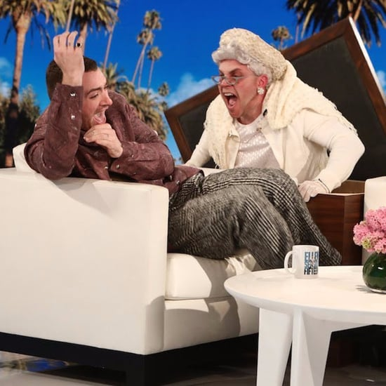 Sam Smith Getting Scared on The Ellen DeGeneres Show Video