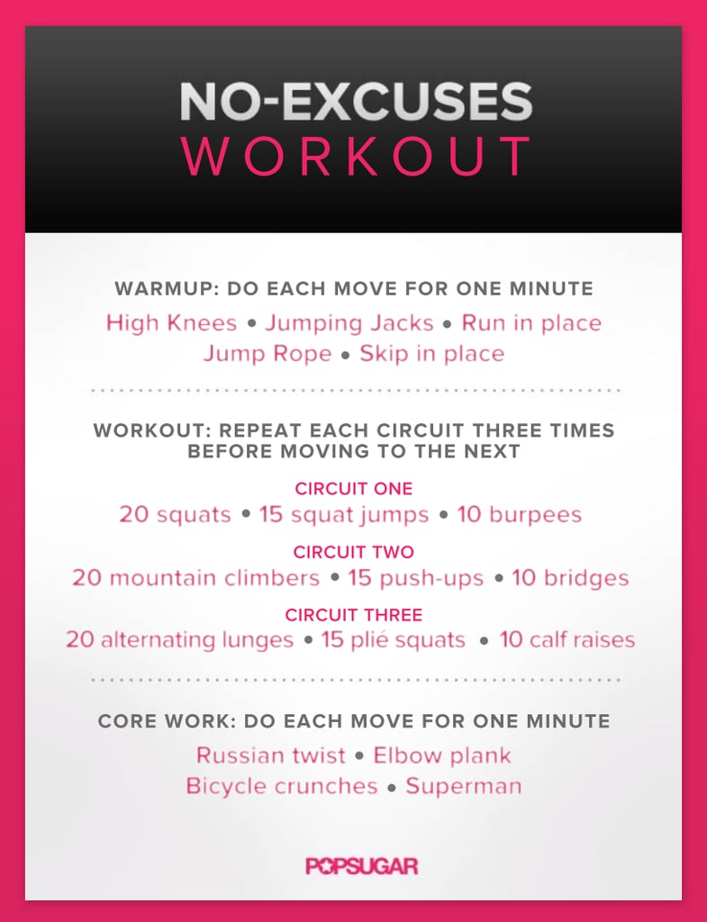 No-Excuses Workout