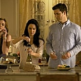 Sara Canning, Erin Beute, and Jason MacDonald in The Vampire Diaries.
