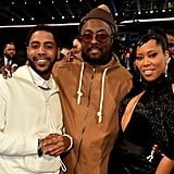 Jharrel Jerome, Will.i.am, and Regina King at the 2019 American Music Awards
