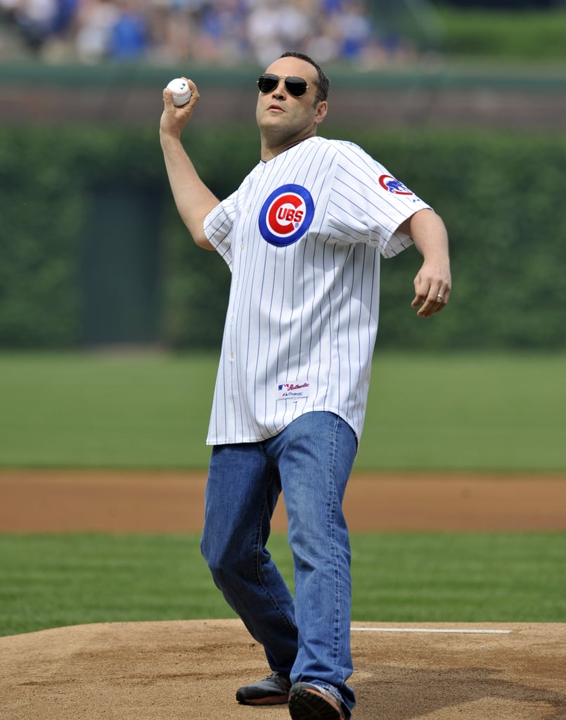 Vince Vaughn took the mound for the Chicago Cubs in June 2011.