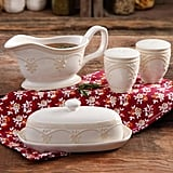 The Pioneer Woman Farmhouse Lace Butter Dish with Gravy Boat and Salt and Pepper Shakers ($17)