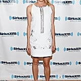Diane Kruger stepped out in an easy-chic white Vanessa Bruno shift and flat Givenchy sandals while promoting Farewell, My Queen.