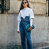 Invest in high-waisted denim — they're an outfit game-changer.