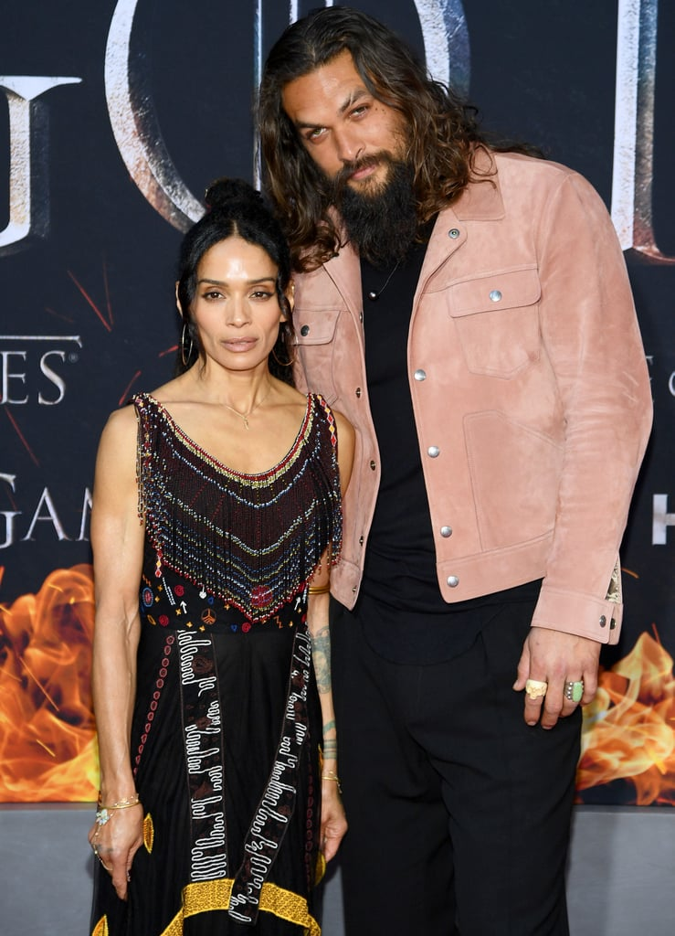 Jason Momoa And Lisa Bonet At Game Of Thrones Premiere