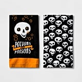 Hyde and Eek! Boutique Halloween Potions and Poisons Skulls Terry Towel