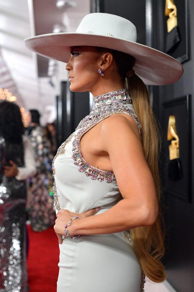 Jennifer Lopez's Ponytail at the 2019 Grammys