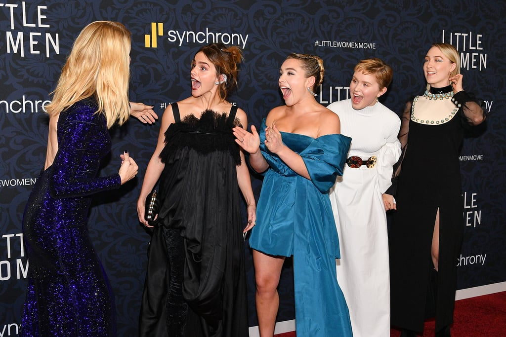 Pictured: Laura Dern, Emma Watson, Florence Pugh, Eliza Scanlen, and Saoirse Ronan at the Little Women world premiere.