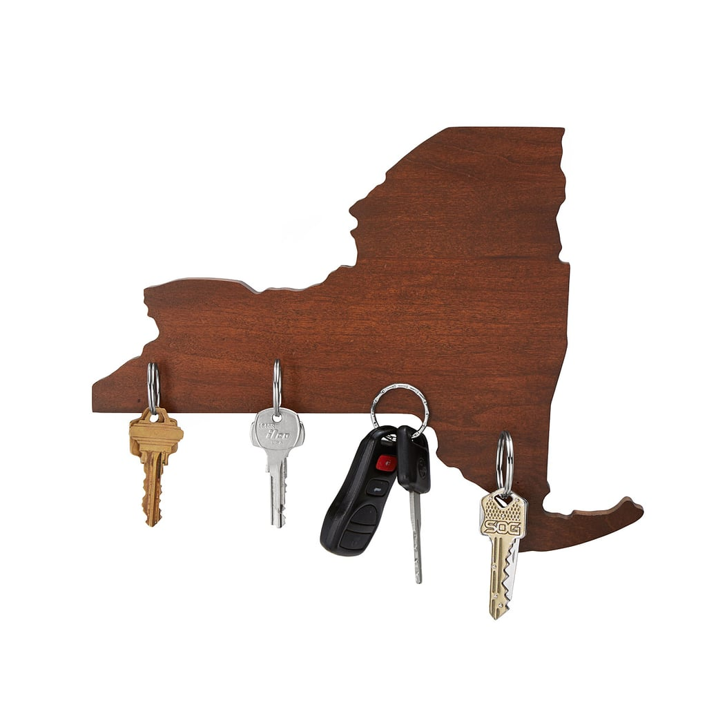 Wooden States Of America Magnetic Key Holder