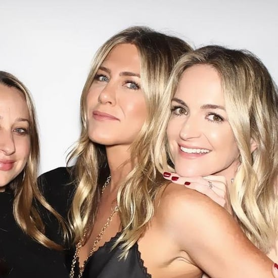 Jennifer Aniston's Black Silk Top