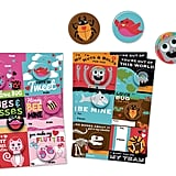 Illustrated Cards With Matching Buttons