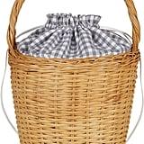 Edie Parker Lily Gingham Basket Tote