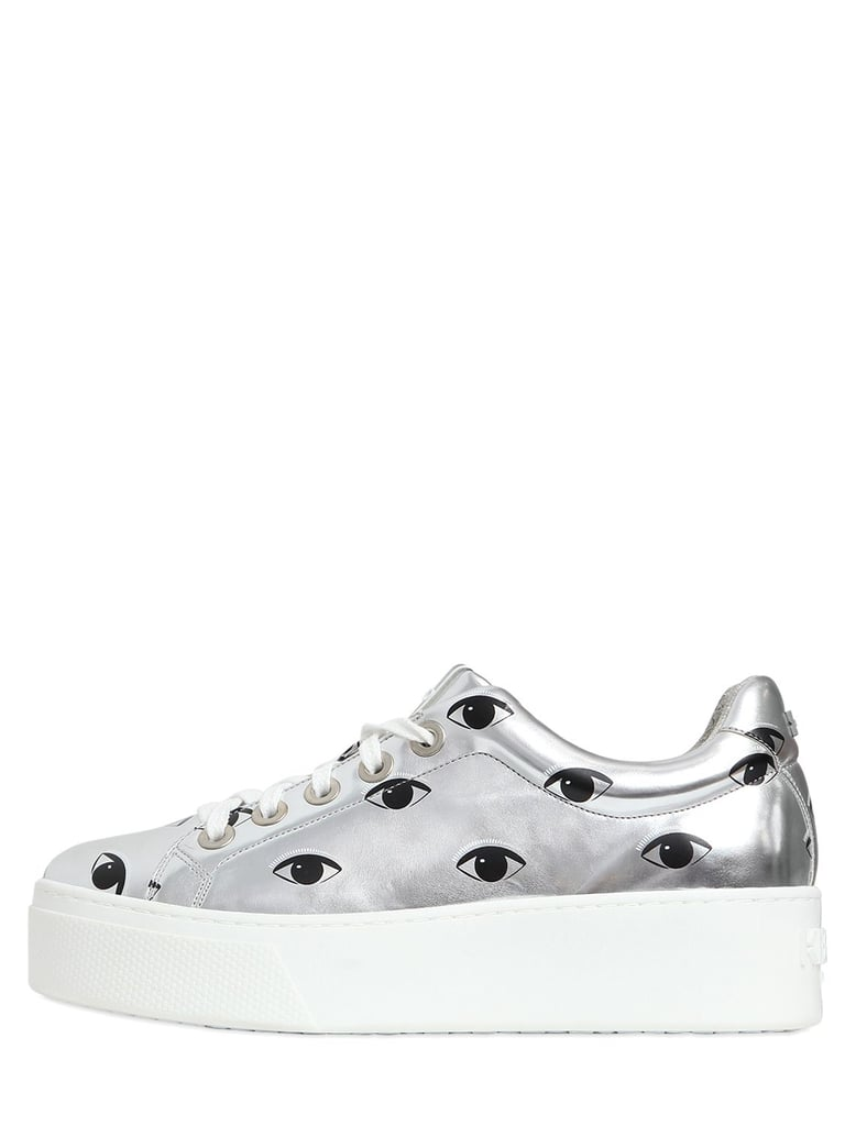 Kenzo 40mm Eyes Metallic Faux Leather Sneakers ($362)