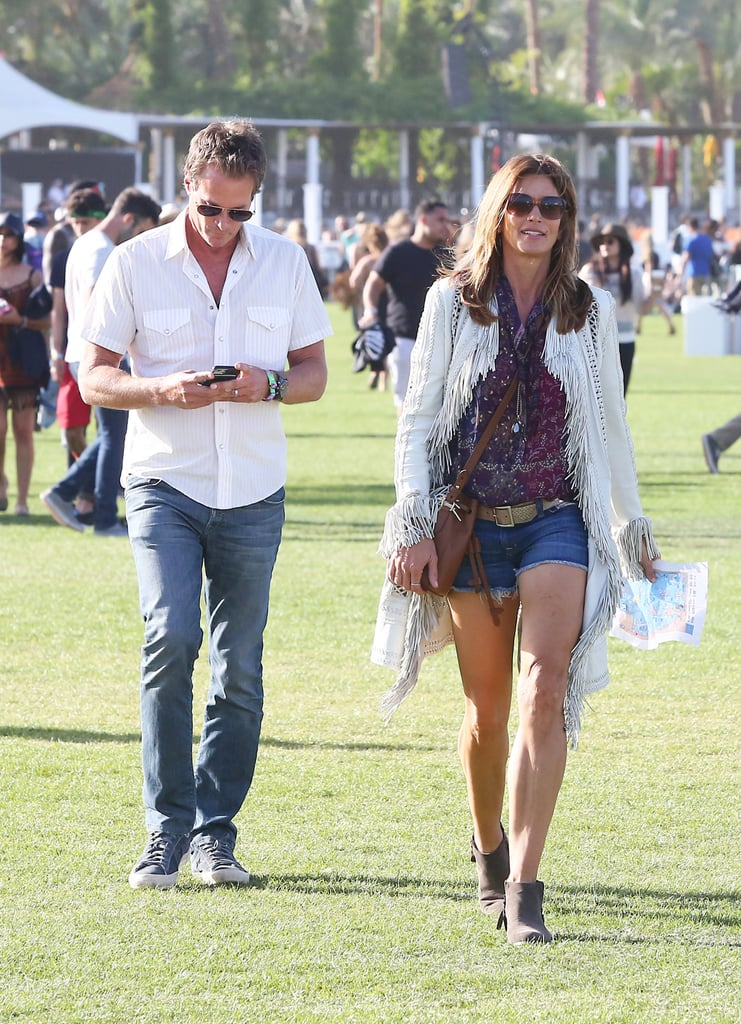Cindy Crawford and Rande Gerber made their way through the festival in 2016.
