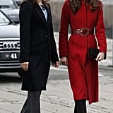 Crown Princess Mary of Denmark, and Kate Middleton, Duchess of Cambridge, visit to the UNICEF Emergency Supply Centre in Copenhagen, Denmark.