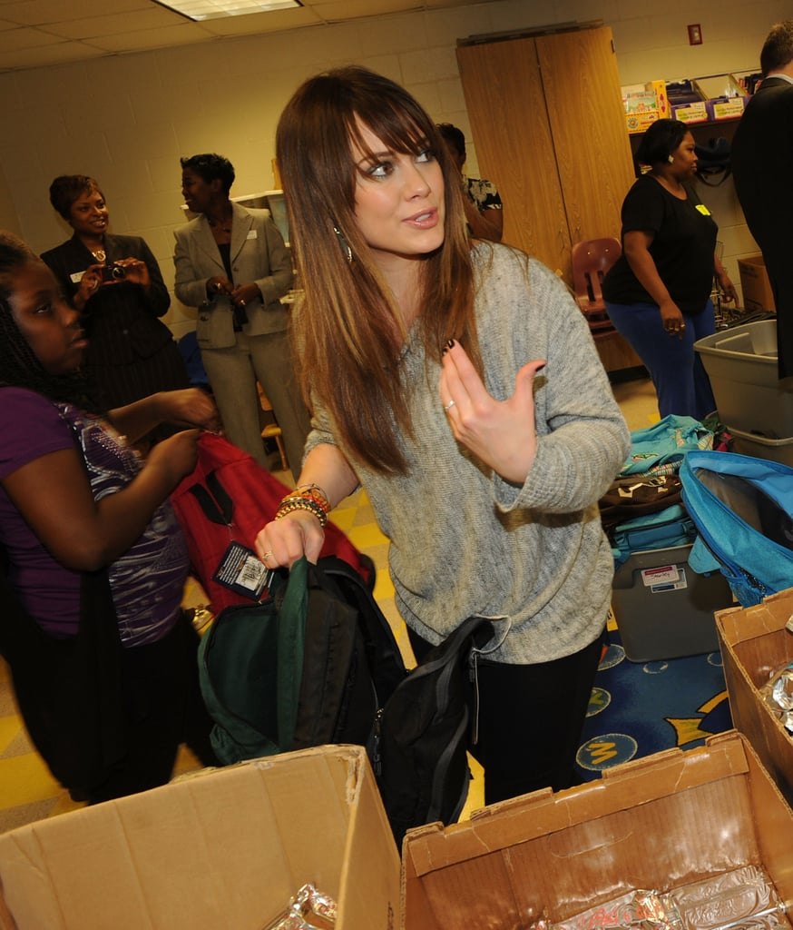 Hilary Duff Heads Back to School For a Blessed Event