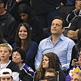 Vince Vaughn watched the LA Kings Stanley Cup finals game in LA.