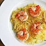 Shrimp Over Spaghetti Squash