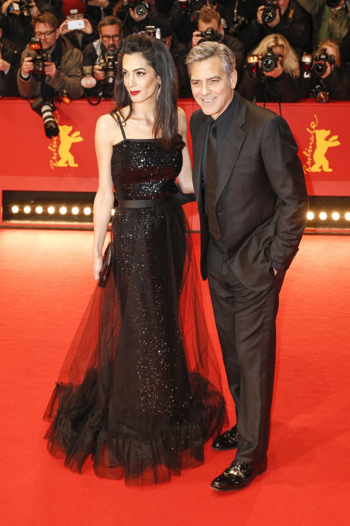 Amal Clooney\'s Yves Saint Laurent gown at Germany\'s Hail, Caesar ...