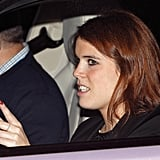 Princess Eugenie's Red Glitter Nails