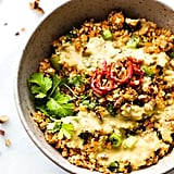 Carrot Cauliflower Rice Salad With Avocado Cream Dressing