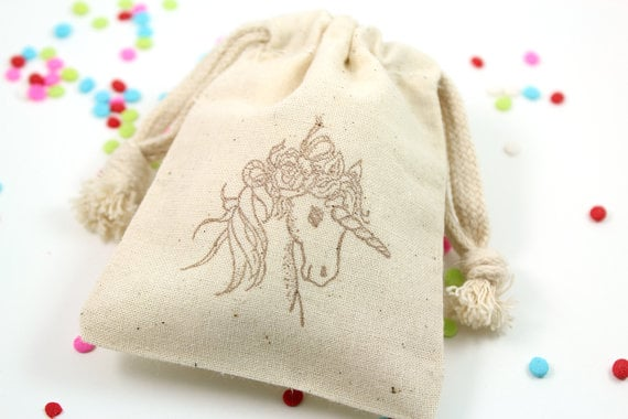 Unicorn Favor Bags