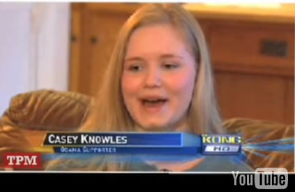 Girl in Clinton Ad Voting For Obama