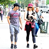 Sophie Turner and Joe Jonas Out With Their Dog