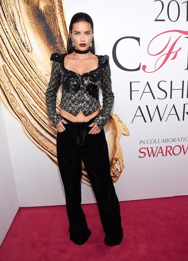 Adriana Lima at the CFDA Awards 2016
