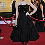 Emma looked stunning in head-to-toe custom Alexander McQueen at the 2012 SAG Awards.