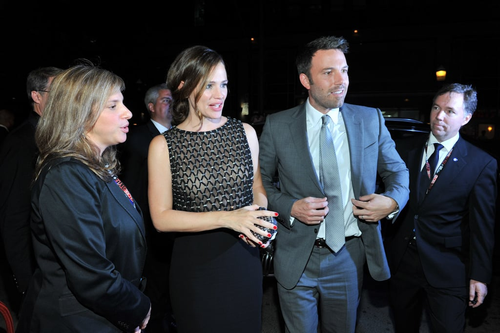 Ben Affleck had the support of his wife, Jennifer Garner, at the Toronto premiere of his film Argo in 2012.