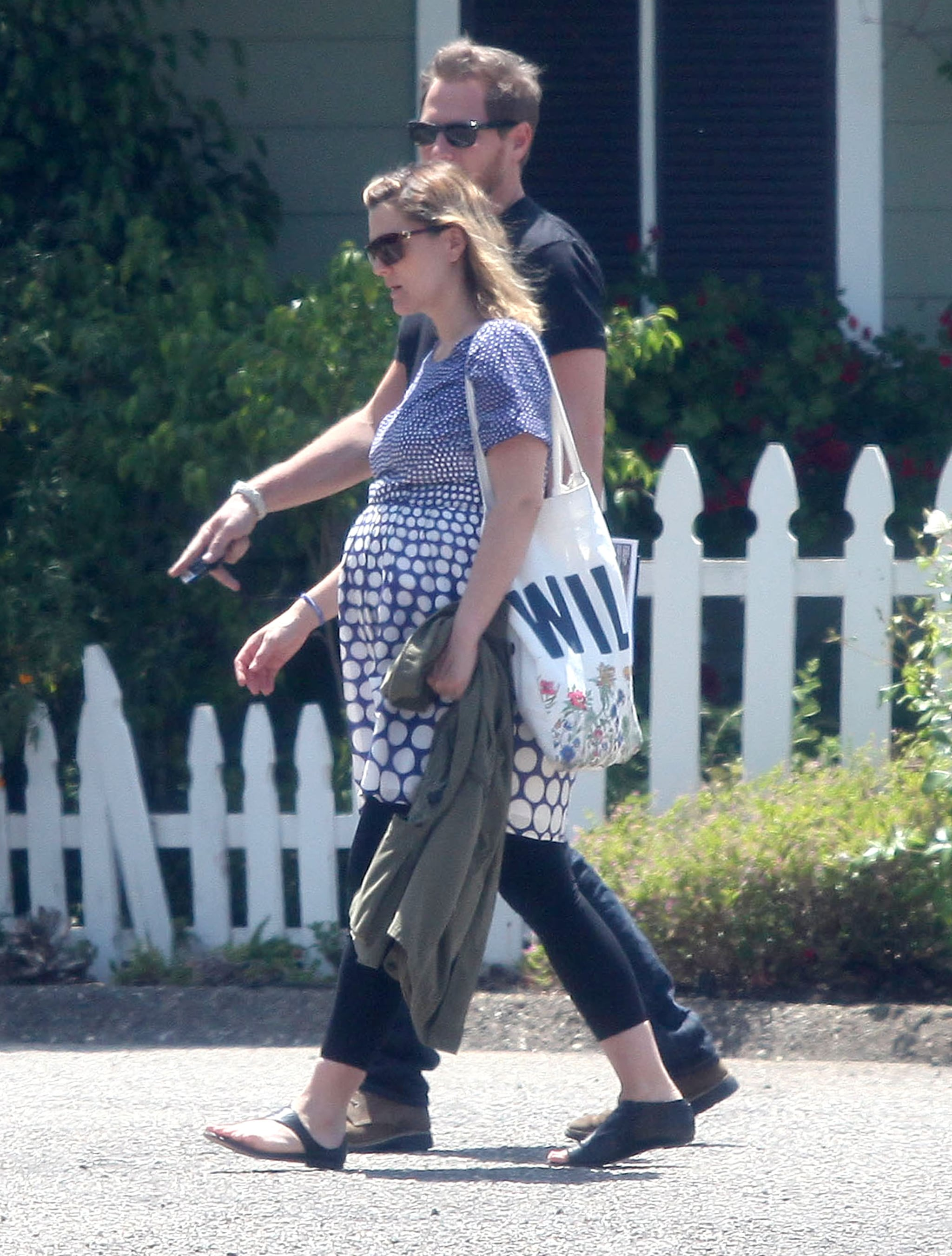 Drew Barrymore and new husband Will Kopelman took a walk together on their honeymoon in Montecito.