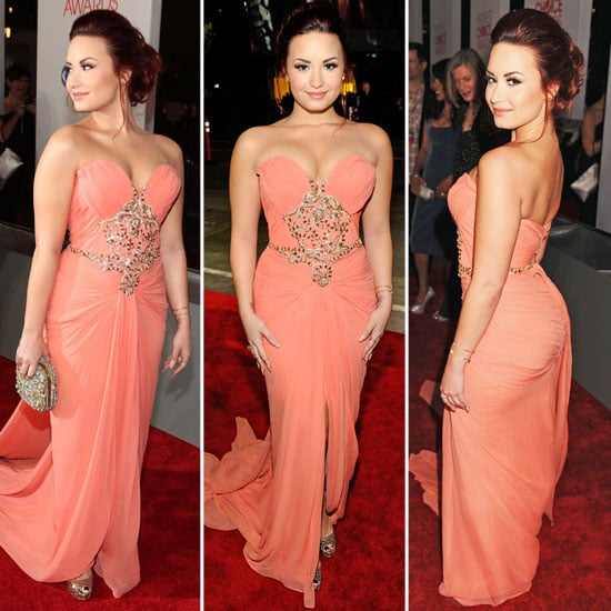 Pictures of Demi Lovato in Peach Marchesa Gown at the 2012 People\'s ...