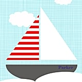 Customize this sailboat print ($16) with your little one's name for a personal touch.