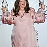 Melissa McCarthy showed off her multiple awards in 2016.
