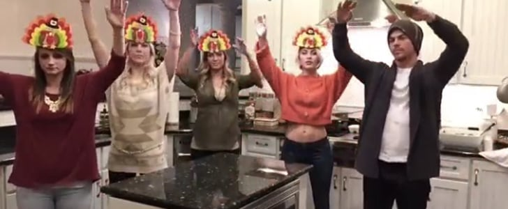 Julianne and Derek Hough Have a Thanksgiving Dance War You Need to Watch